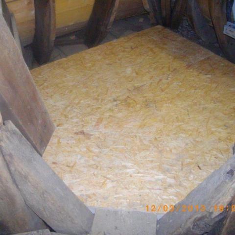 Ausgleichsboden in 25 mm OSB