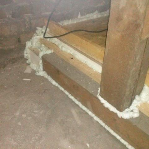 Übergang begehbare - nicht begehbare gedämmt Dachbodenfläche nach ENEV