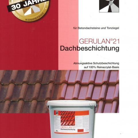 Dachbeschichtung und vorher Dachreinigung