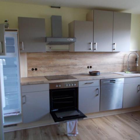umgebaute Küche aus Bestand